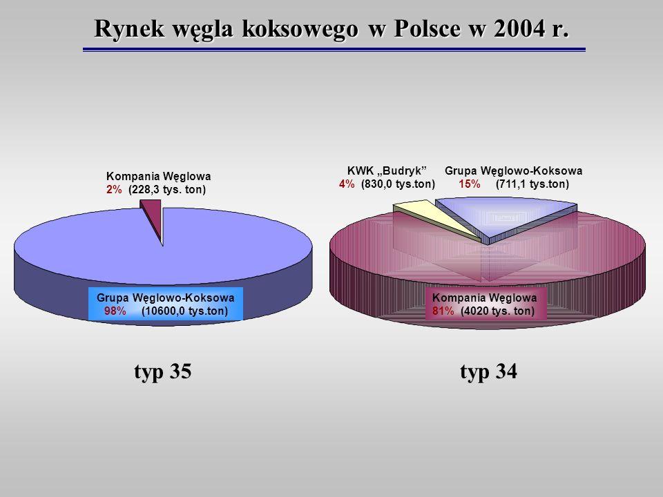 Rynek węgla koksowego w Polsce w 2004 r.