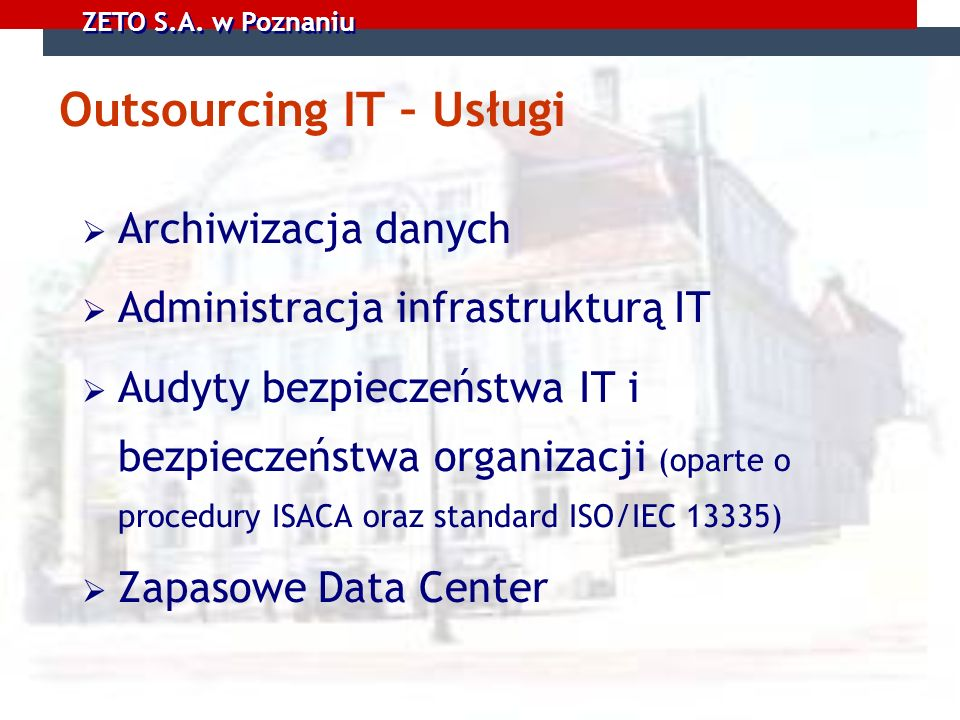 Outsourcing IT – Usługi