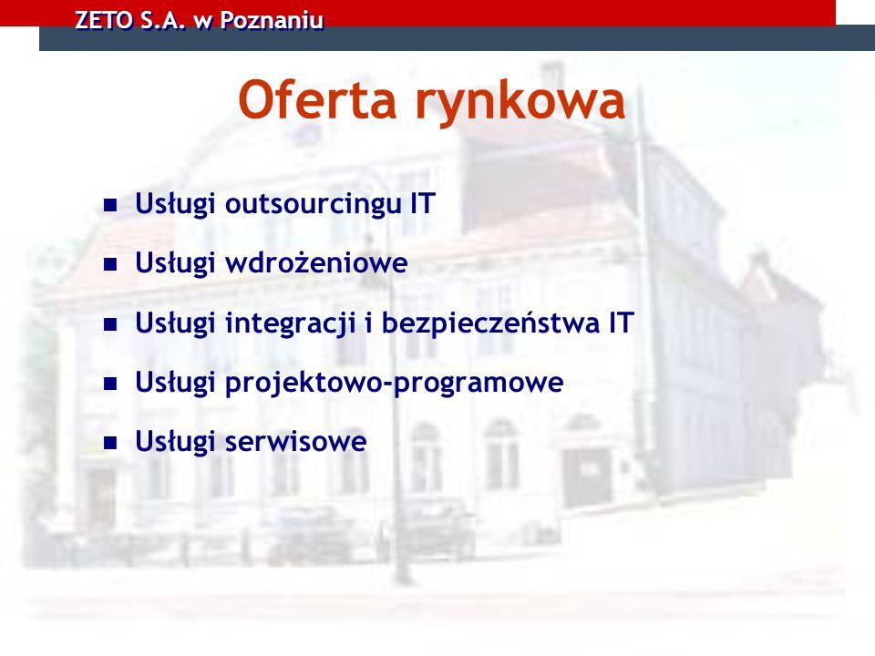 Oferta rynkowa Usługi outsourcingu IT Usługi wdrożeniowe