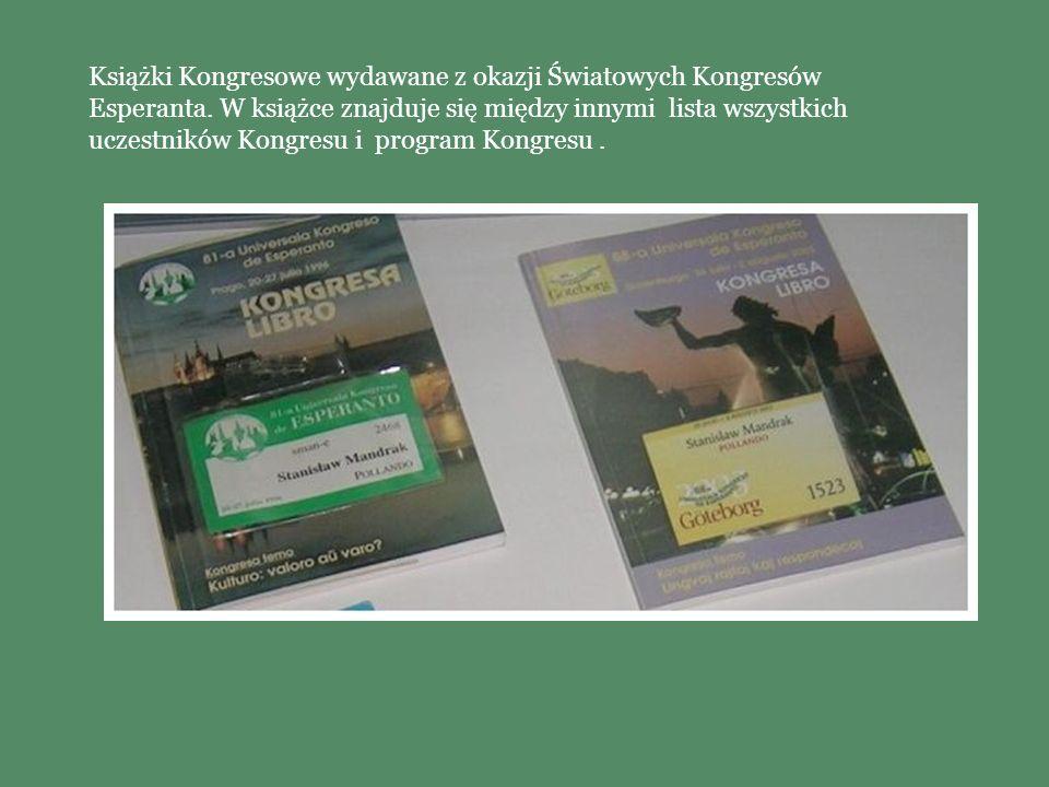 Książki Kongresowe wydawane z okazji Światowych Kongresów Esperanta