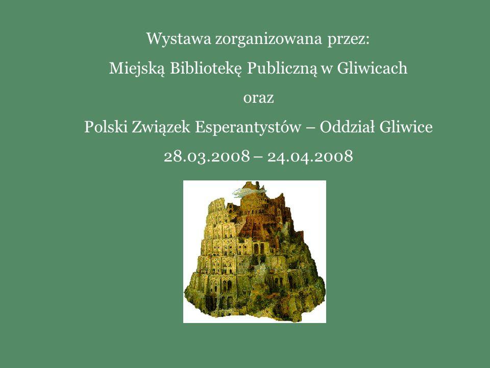 Wystawa zorganizowana przez: Miejską Bibliotekę Publiczną w Gliwicach