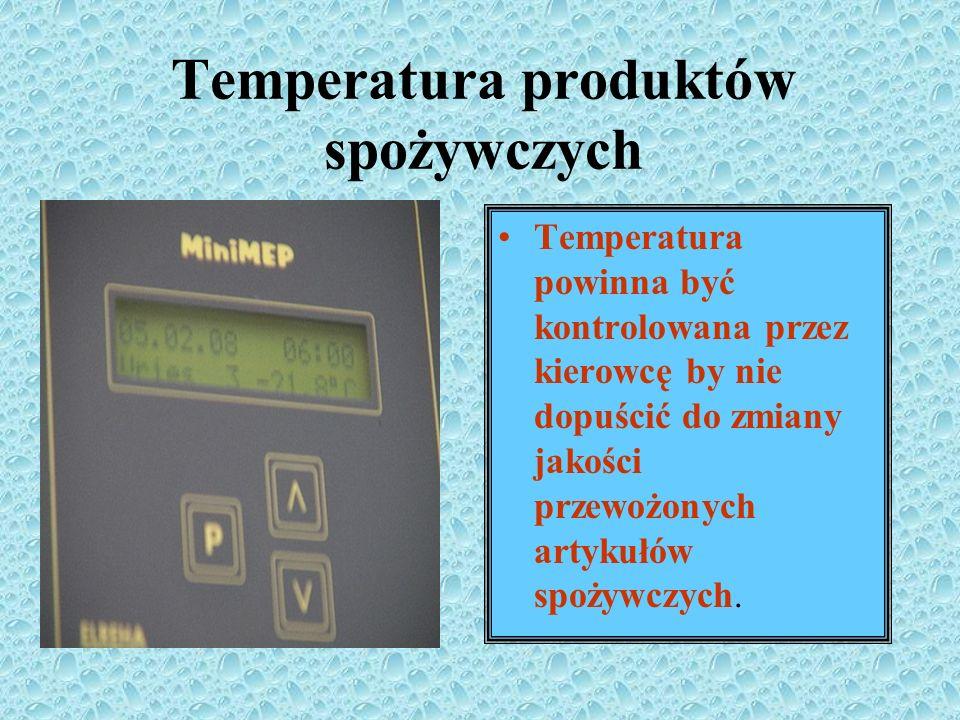 Temperatura produktów spożywczych