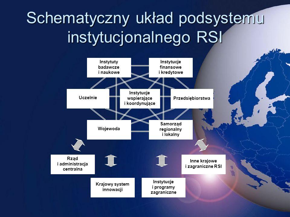 Schematyczny układ podsystemu instytucjonalnego RSI