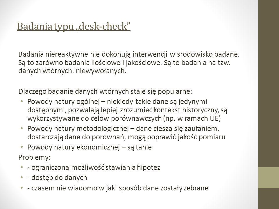 "Badania typu ""desk-check"