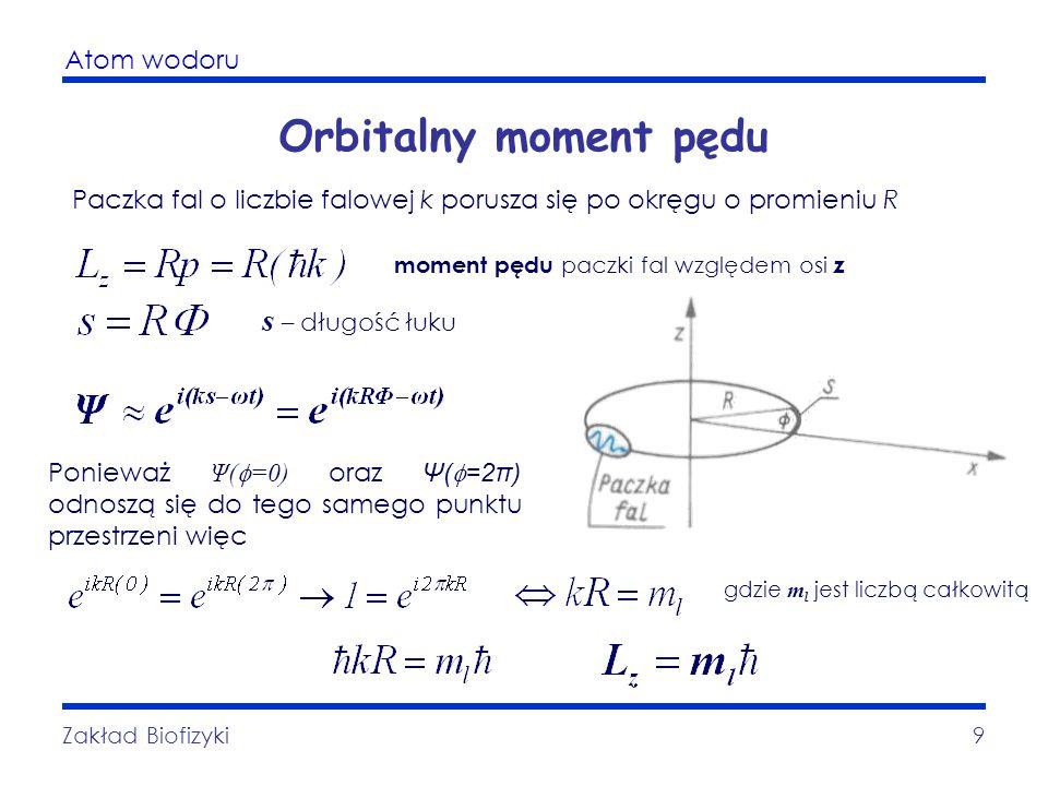 Orbitalny moment pędu s – długość łuku
