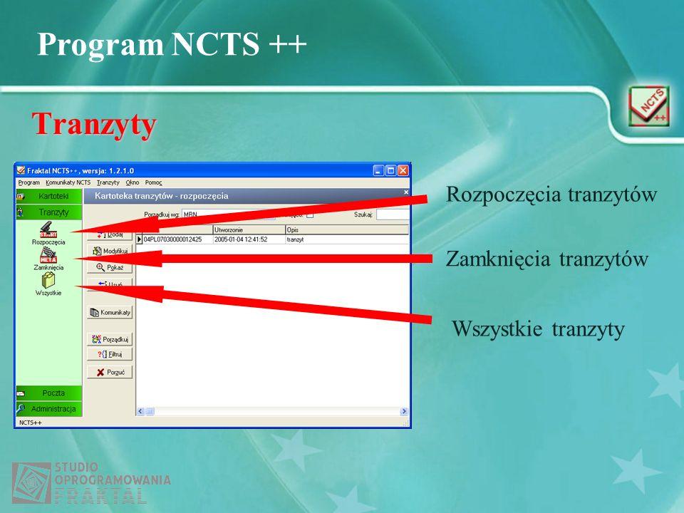Tranzyty Rozpoczęcia tranzytów Zamknięcia tranzytów Wszystkie tranzyty
