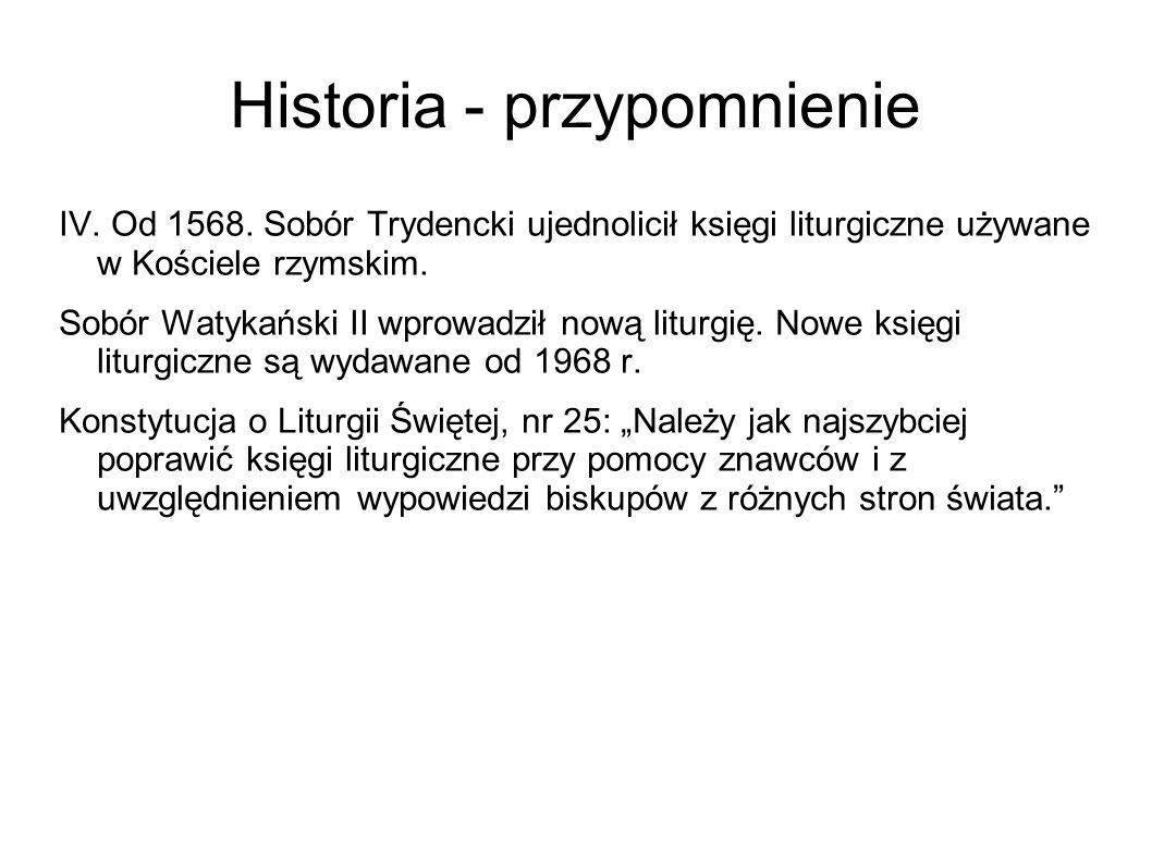 Historia - przypomnienie