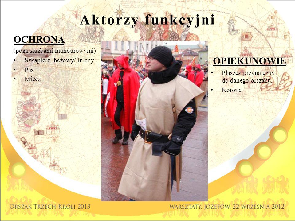 Aktorzy funkcyjni OCHRONA OPIEKUNOWIE (poza służbami mundurowymi)