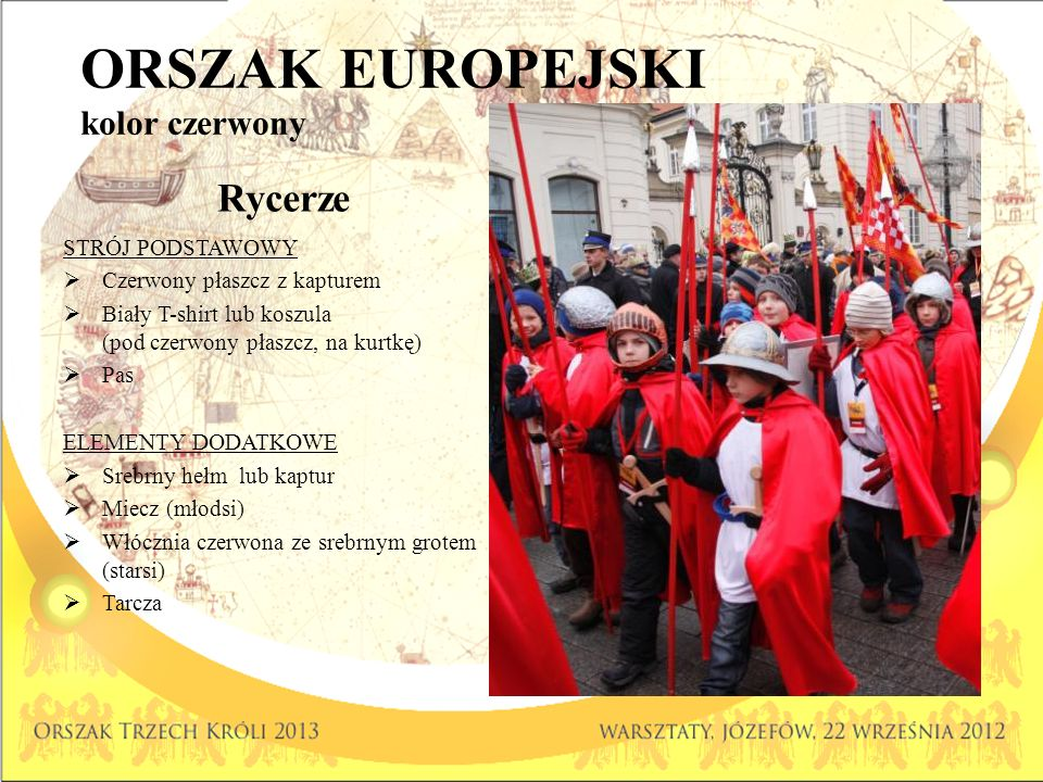 ORSZAK EUROPEJSKI kolor czerwony