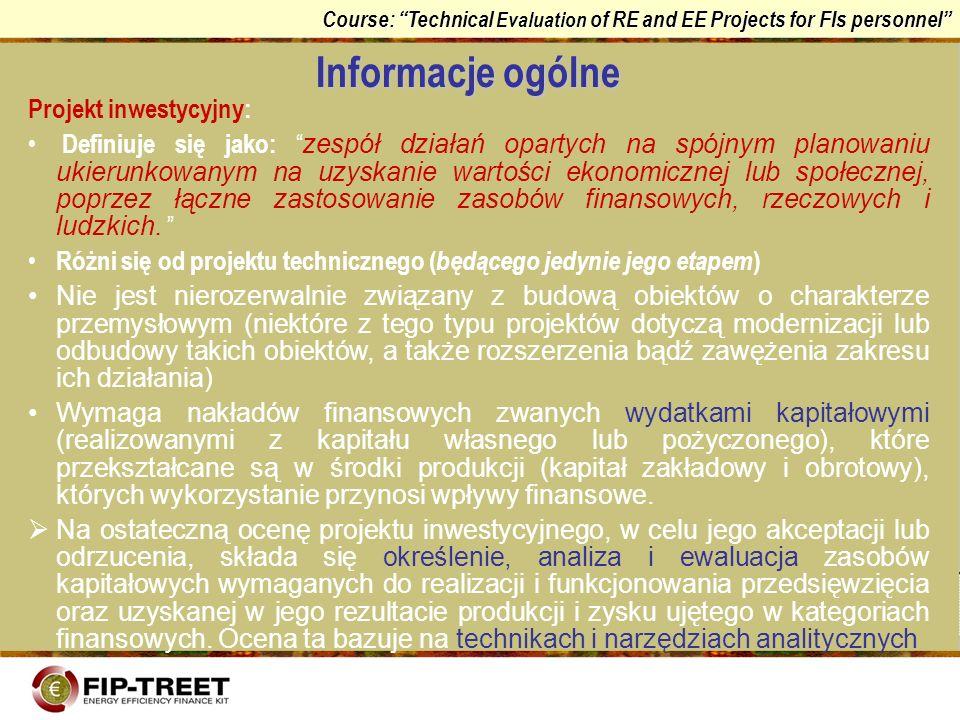 Informacje ogólne Projekt inwestycyjny: