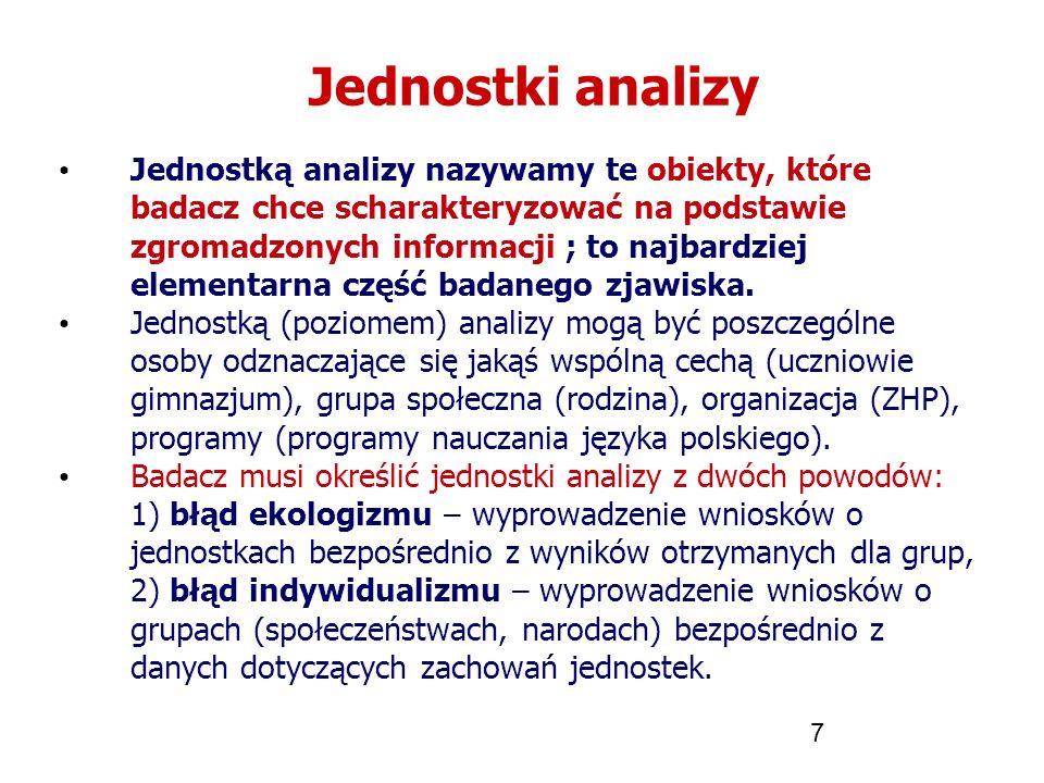 Jednostki analizy