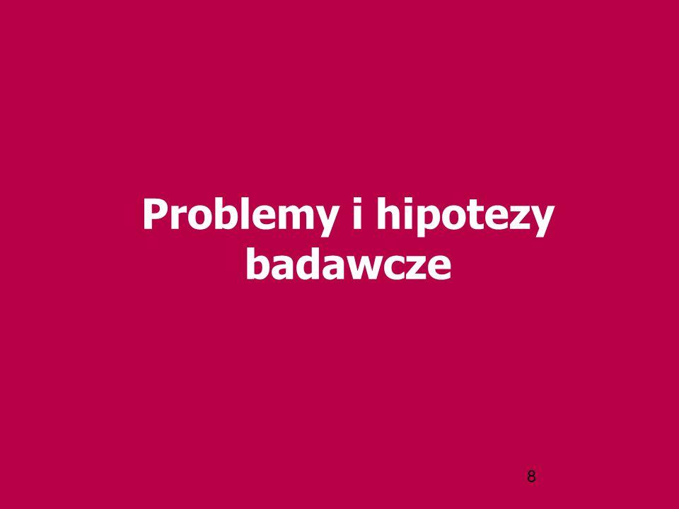 Problemy i hipotezy badawcze