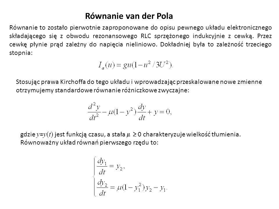 Równanie van der Pola