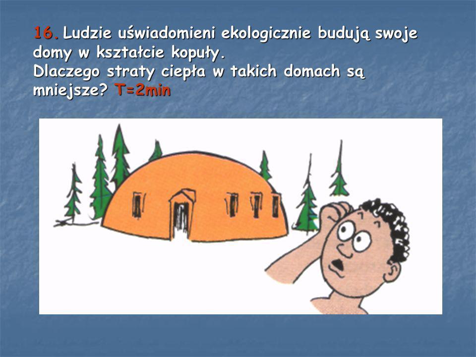 16. Ludzie uświadomieni ekologicznie budują swoje domy w kształcie kopuły.