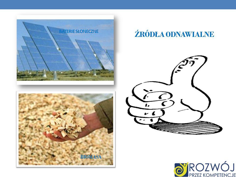 Baterie słoneczne Źródła odnawialne Biomasa