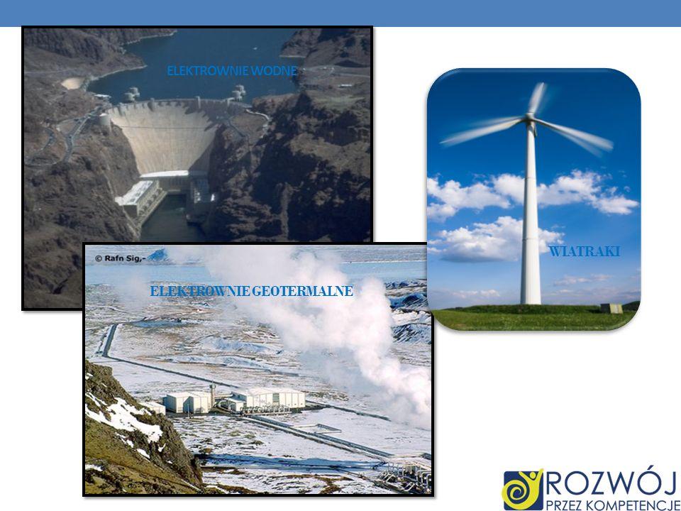 Elektrownie wodne Wiatraki Elektrownie geotermalne