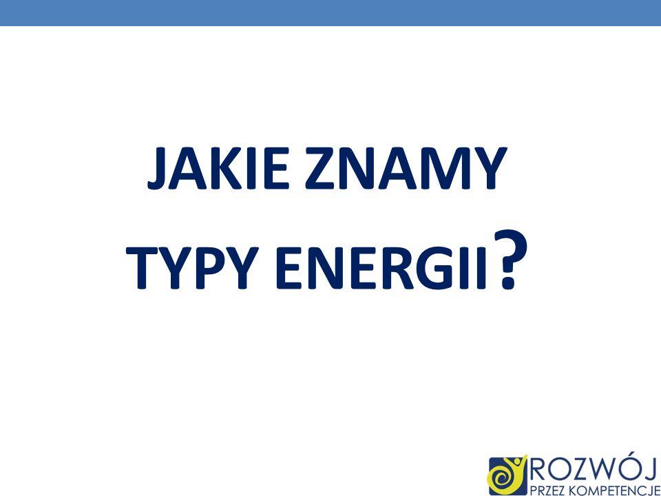 Jakie znamy typy energii