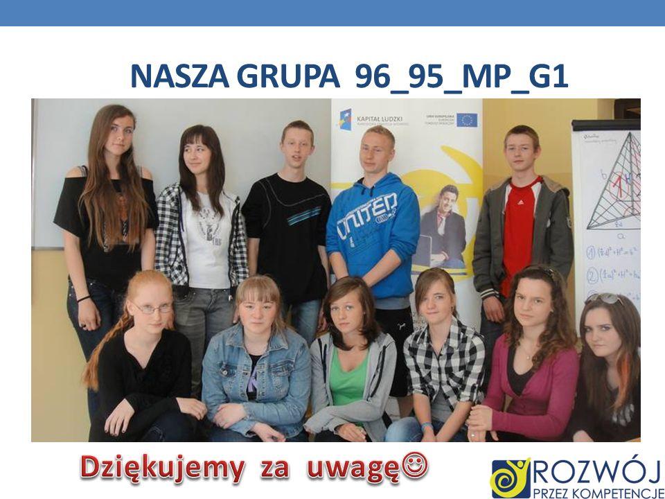 Nasza grupa 96_95_mp_g1 Dziękujemy za uwagę