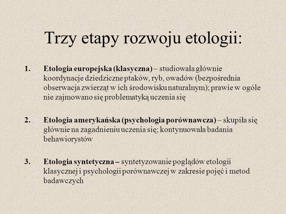 Trzy etapy rozwoju etologii: