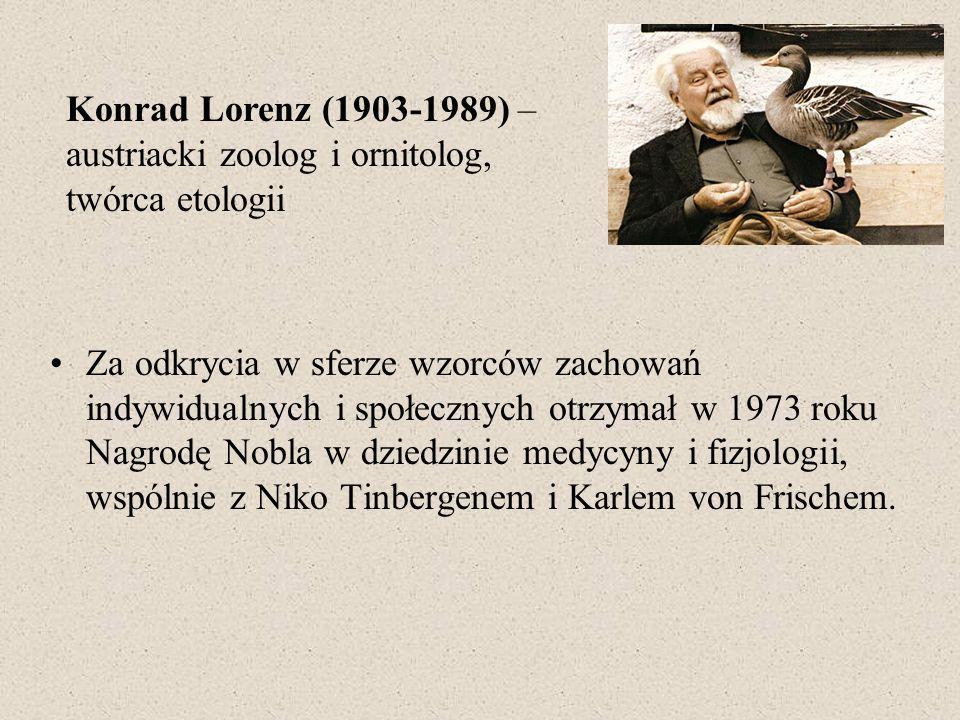 Konrad Lorenz (1903-1989) – austriacki zoolog i ornitolog, twórca etologii