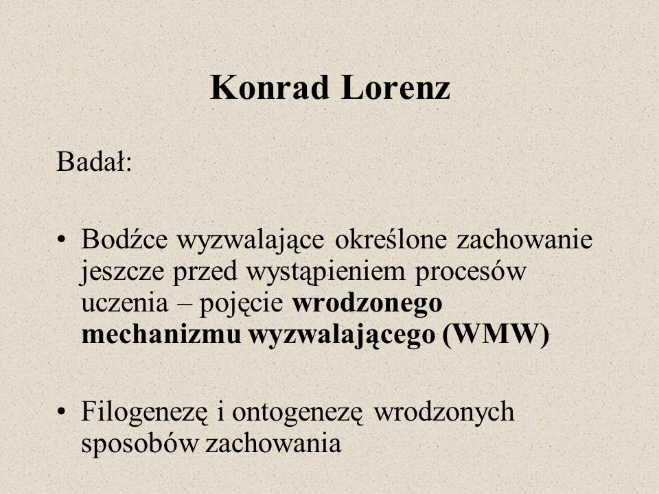 Konrad Lorenz Badał: