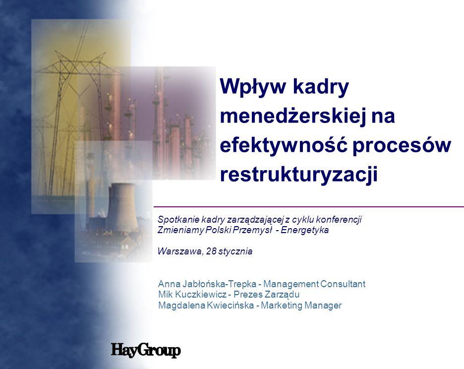 Wpływ kadry menedżerskiej na efektywność procesów restrukturyzacji