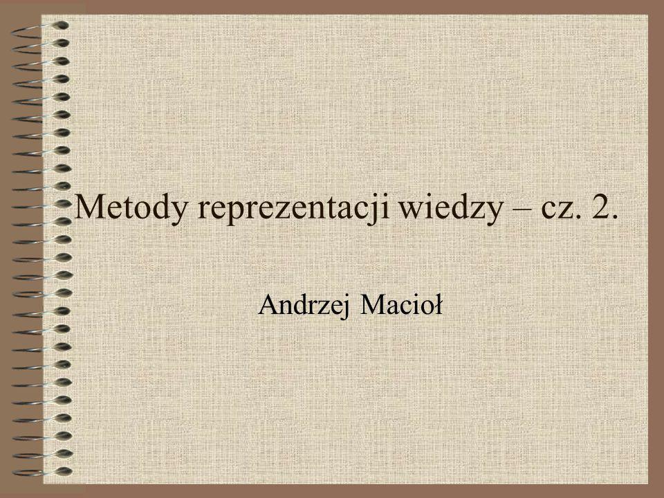 Metody reprezentacji wiedzy – cz. 2.