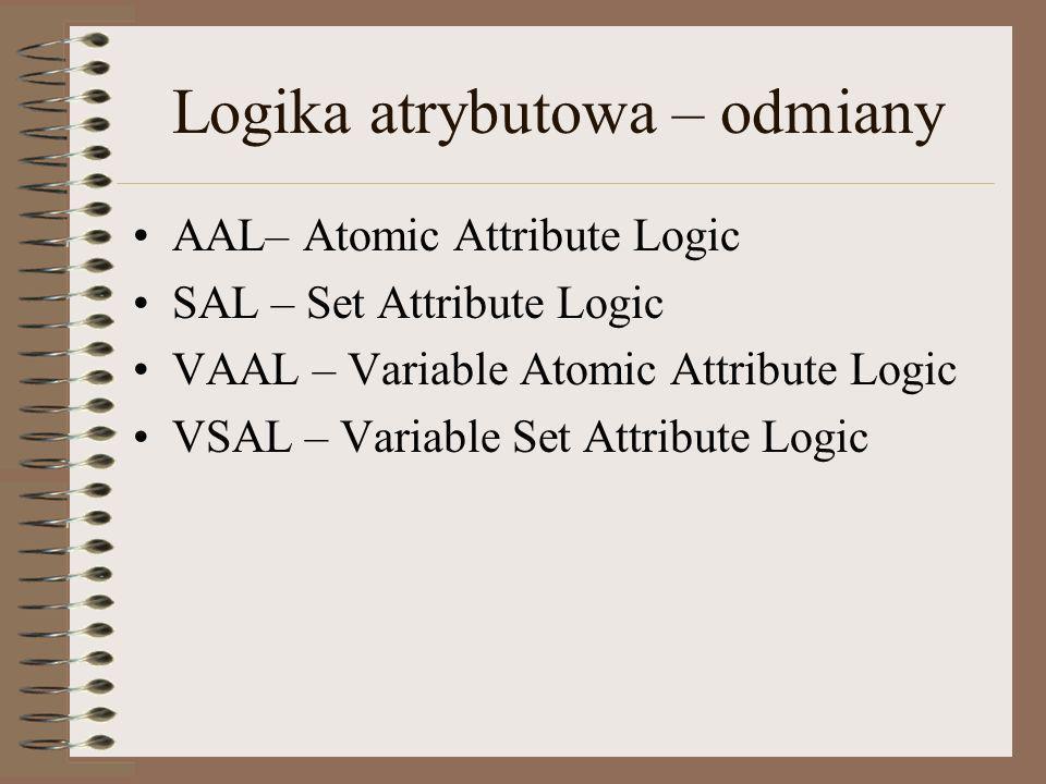 Logika atrybutowa – odmiany