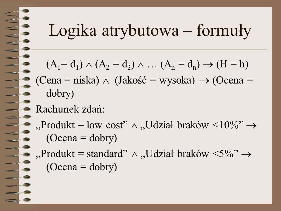 Logika atrybutowa – formuły