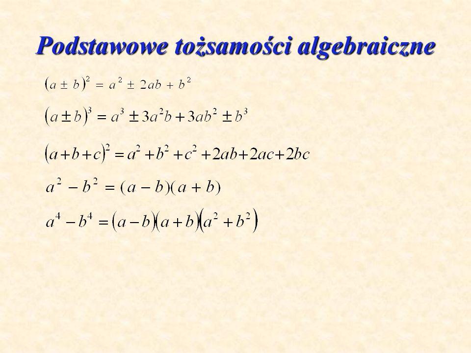 Podstawowe tożsamości algebraiczne