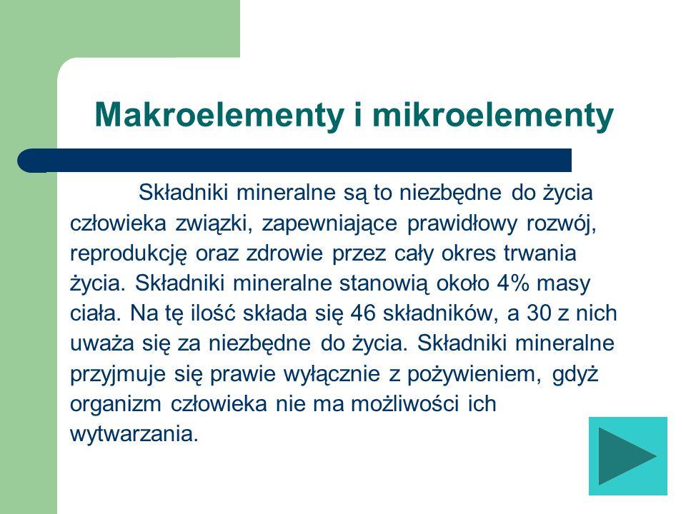 Makroelementy i mikroelementy