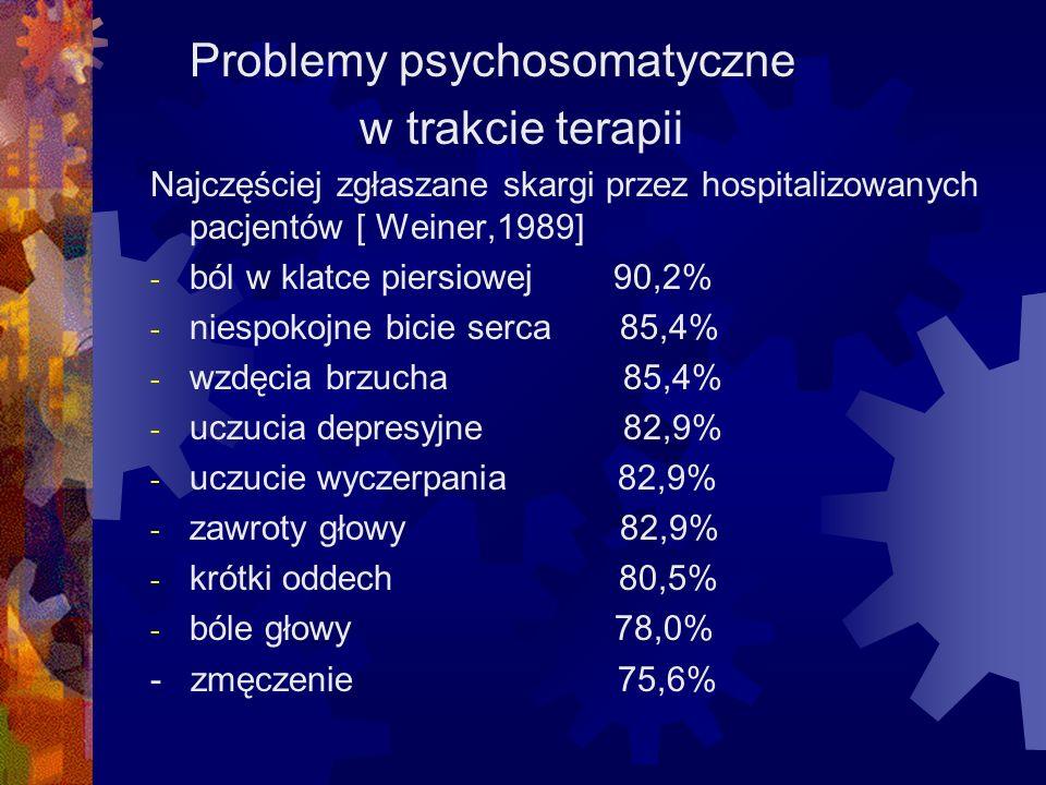 Problemy psychosomatyczne w trakcie terapii