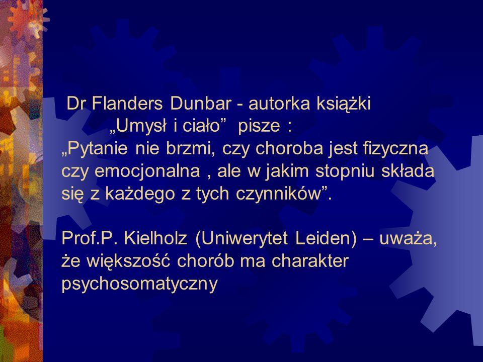"""Dr Flanders Dunbar - autorka książki. """"Umysł i ciało pisze :"""