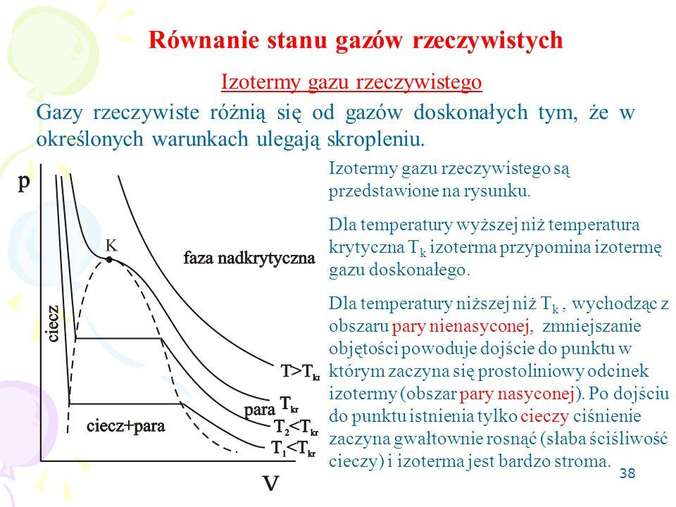 Równanie stanu gazów rzeczywistych