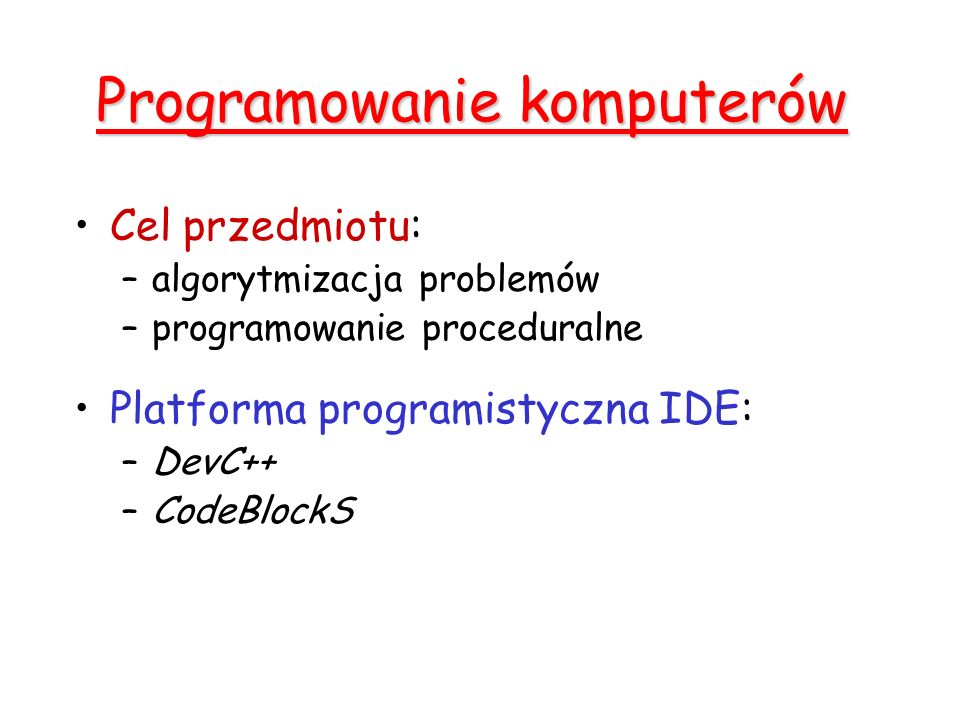 Programowanie komputerów