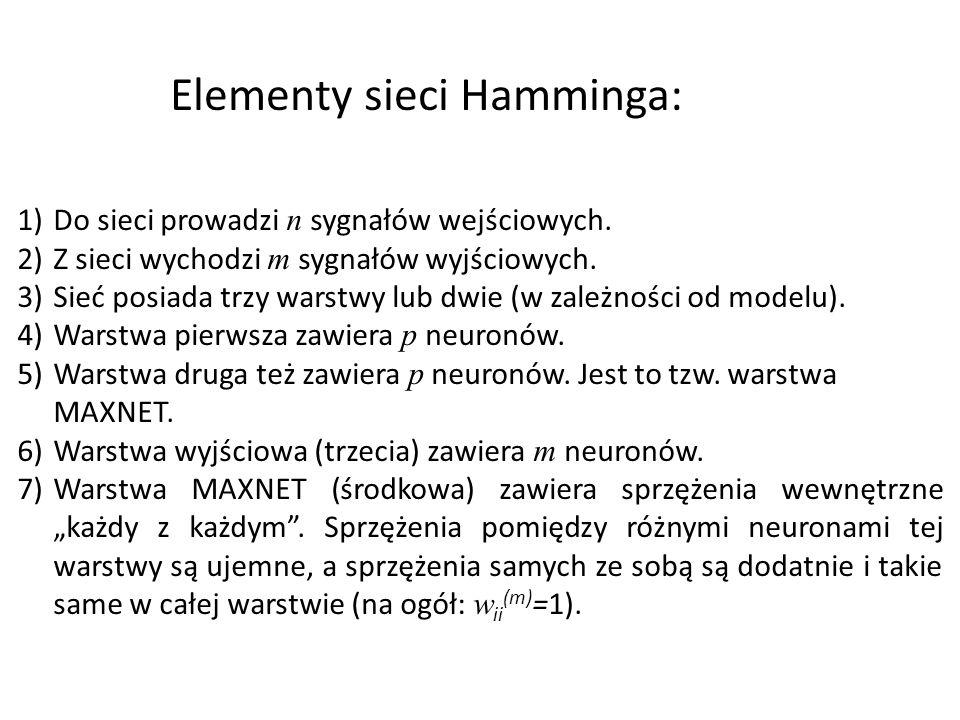 Elementy sieci Hamminga: