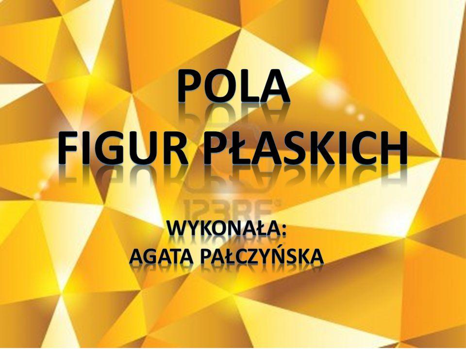 Pola Figur Płaskich WYKONAŁA: AGATA PAŁCZYŃSKA