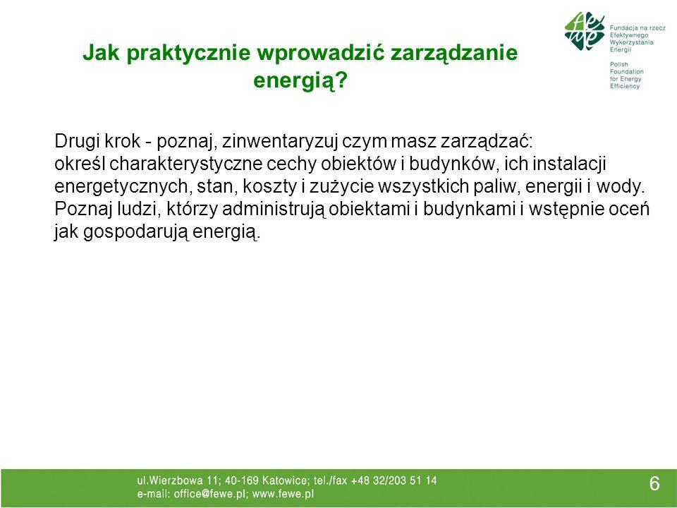 Jak praktycznie wprowadzić zarządzanie energią