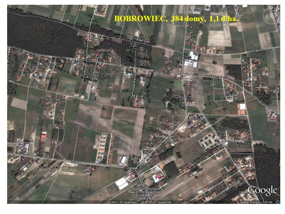 BOBROWIEC, 384 domy, 1,1 d/ha.