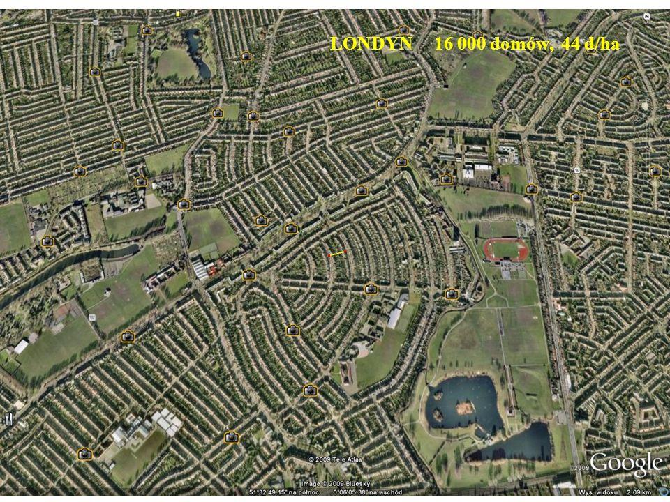 LONDYN 16 000 domów, 44 d/ha