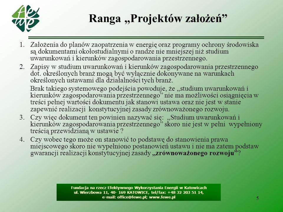 """Ranga """"Projektów założeń"""