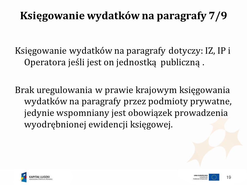 Księgowanie wydatków na paragrafy 7/9