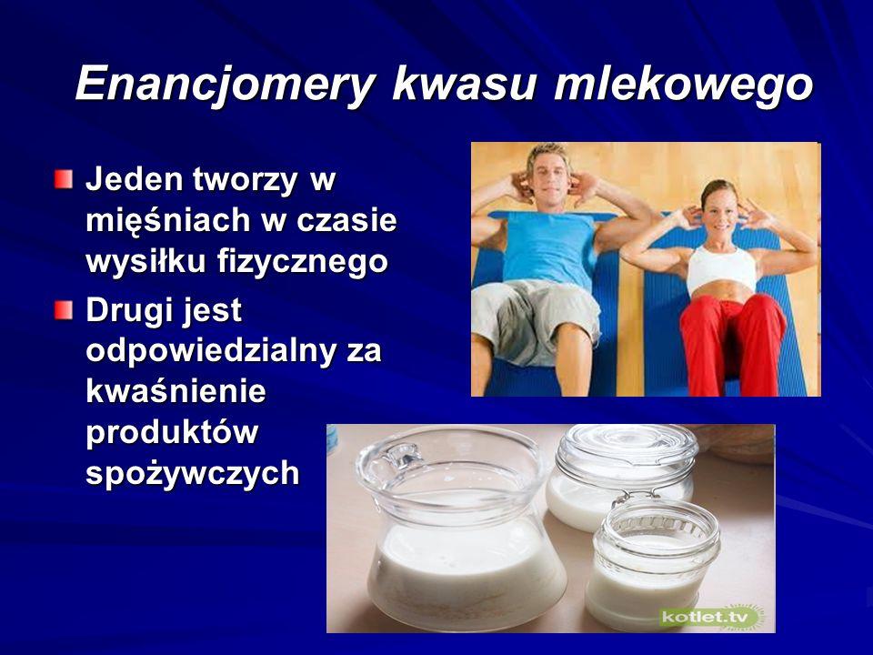 Enancjomery kwasu mlekowego