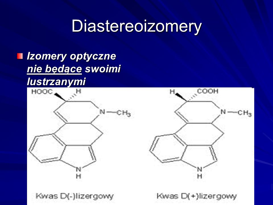 Diastereoizomery Izomery optyczne nie będące swoimi lustrzanymi odbiciami