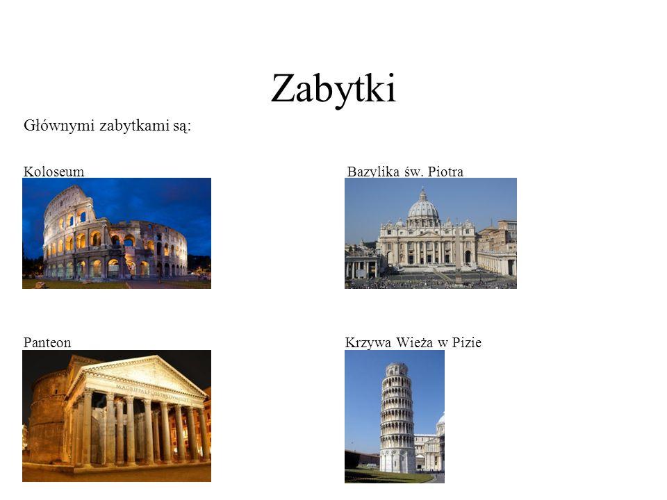 Zabytki Głównymi zabytkami są: Koloseum Bazylika św. Piotra