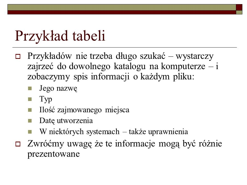 Przykład tabeli