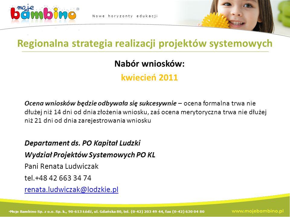 Regionalna strategia realizacji projektów systemowych