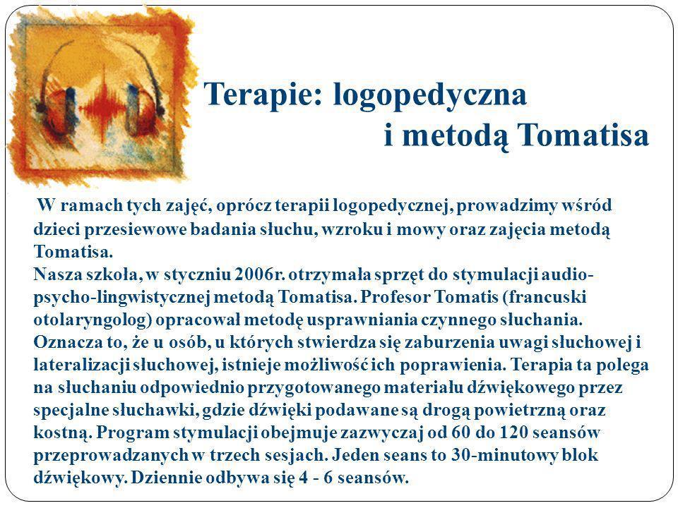 Terapie: logopedyczna i metodą Tomatisa