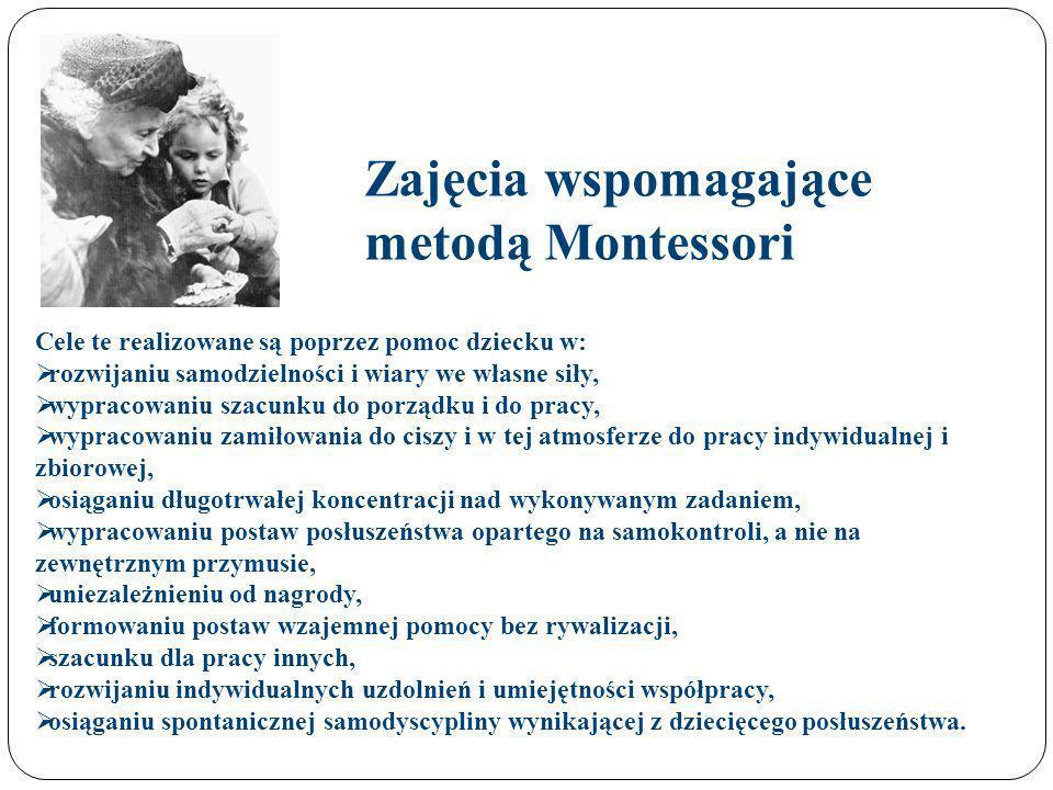 Zajęcia wspomagające metodą Montessori
