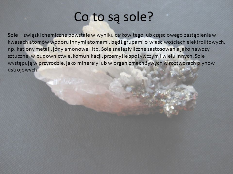 Co to są sole